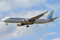 CS-TLO @ EGCC - Euro Atlantic B767 with flight MMZ652  from Tokyo with UK citizens affected by Tsunami in Japan