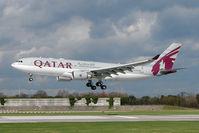 A7-ACE @ EGCC - Qatar Airways Airbus A330-203, c/n: 571 landing at Manchester