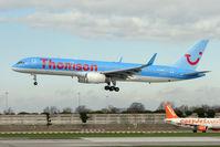 G-OOBN @ EGCC - Thomson's 2000 Boeing 757-2G5, c/n: 29379 landing at Manchester (UK)