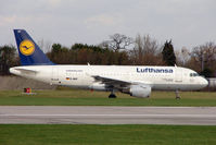 D-AILY @ EGCC - Lufthansa 1998 Airbus A319-114, c/n: 875 at Manchester (UK)