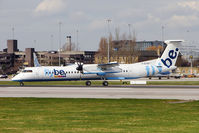 G-ECOO @ EGCC - FLYBE's 2009 De Havilland Canada DHC-8-402, c/n: 4237 taxying for departure from Manchester (UK)