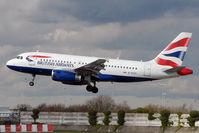 G-EUOI @ EGCC - British Airways 2001 Airbus A319-131, c/n: 1606 - by Terry Fletcher