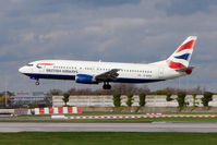 G-DOCN @ EGCC - British Airways 1992 Boeing 737-436, c/n: 25848