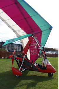 G-MYSB @ EGCB - 1994 Solar Wings Aviation Ltd PEGASUS QUANTUM 15, c/n: 6809 visiting City Airport, Manchester