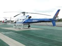 N10NT @ CCB - Ontario PD 350 B2 parked with San Bernardino SO 350 B3 at Ontario PD helipads - by Helicopterfriend