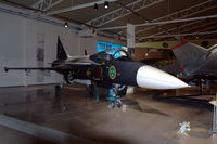 39-2 @ ESCF - The second prototype of the Saab Gripen fighter is preserved in the Flygvapenmuseum (Swedish Air Force Museum) in Malmslätt, Sweden. - by Henk van Capelle