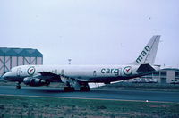 A4O-PA @ LMML - DC8 A40-PA Cargoman with full flaps and spoilers - by raymond