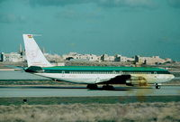 9G-ACR @ LMML - B707 9G-ACR Clipper International backtracking the runway for departure - by raymond