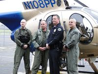 N108PP @ POC - Pilots, Tactical Flight Officer and Operations Lieutenant - by Helicopterfriend