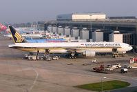 9V-SWQ @ EGCC - Singapore Airlines 2008 Boeing 777-312(ER), c/n: 34582 at Manchester
