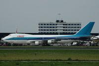 4X-AXF @ EHAM - El Al cargo 747-200 at Schiphol airport. - by Henk van Capelle