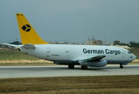 D-ABHE @ LMML - B737-200 D-ABHE German Cargo - by raymond