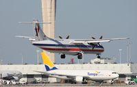 N407AT @ MIA - American Eagle ATR-72