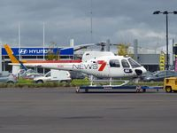 VH-HSV @ YMEN - Channel Seven Eurocopter AS350B2 on the dolly at Essendon Airport.