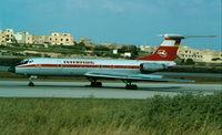 DDR-SCN @ LMML - Tu134 DDR-SCN Interflug - by raymond