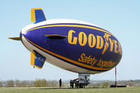G-HLEL @ LFFQ - blimp at the mast Safety 2 8 to 17 April for flights over région of Paris, France