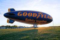 G-HLEL @ LFFQ - The sun goes to bed behind the blimp - by Thierry DETABLE