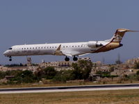 5A-LAA @ LMML - CRJ900 5A-LAA Libyan Arab Airlines - by raymond
