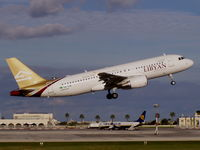 5A-LAI @ LMML - A320 5A-LAI Libyan Arab Airlines - by raymond