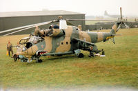 0216 @ EGVA - Mil-24D Hind helicopter gunship of the Czech Air Force on display at the 1994 International Air Tattoo at RAF Fairford. - by Peter Nicholson