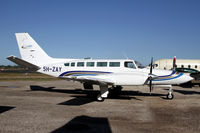 5H-ZAY @ HTDA - Cessna 404's are being replaced with Caravan's. - by Duncan Kirk