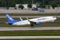 C-FYQN @ MCO - Canjet's 2001 Boeing 737-8AS(WL), c/n: 29933