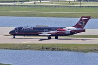 N891AT @ MCO - Air Trans Atlanta Falcons logojet 2004 Boeing 717-200, c/n: 55043
