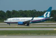 N344AT @ MCO - Airtran 2008 Boeing 737-7BD, c/n: 36718