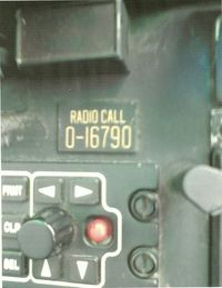 68-16790 @ KGEZ - The radio call plate. 0-16790 means the aircraft is more than 10 years old. The real # is 68-16790. 790 is a Viet Nam vet as you can see in the other picture. - by Jeffrey Kron