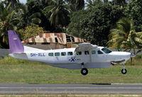 5H-XLL @ HTZA - Air Excel Caravan landing at Zanzibar - by Duncan Kirk