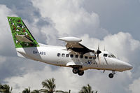 5H-AES @ HTZA - Nice shot of an Air Excel LET 410 landing at Zanzibar - by Duncan Kirk