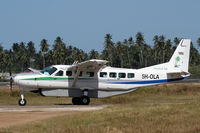 5H-OLA @ HTZA - Holding for take-off at Zanzibar - by Duncan Kirk