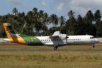 5H-PWC @ HTZA - Precision ATR-72 touching down at Zanzibar - by Duncan Kirk