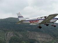 N16497 @ SZP - 1973 Piper PA-28-235 CHEROKEE CHARGER, Lycoming O-540-D4B5 235 Hp, takeoff climb Rwy 22 - by Doug Robertson