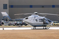 N450MT @ DFW - EC-135 in the Flight Safety parking lot at DFW Airport