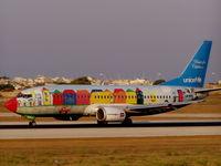 LN-KKS @ LMML - B733 LN-KKS Norwegian Air Shuttle - by raymond