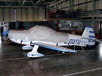 G-GDTU @ EGDY - inside the 727 NAS Hangar - by Chris Hall