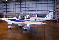 G-BYVF @ EGDY - inside the 727 NAS Hangar - by Chris Hall