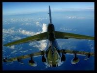 158976 - Harrier flies again. Super imposed. - by Kendrick Shackleford