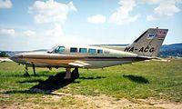 HA-ACG @ LHFH - Cessna 402B Businessliner [402B-1222] Farkashegy~HA 16/06/1996