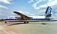F-GCJO @ LFMT - Fairchild Hiller FH-227B [530] (TAT) Montpellier-Frejourques~F 13/05/1987