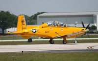 166064 @ LAL - T-6B in Yellow Peril retro colors