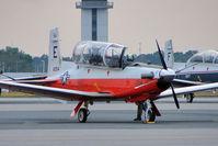 166054 @ PNS - Raytheon T-6B Texan II, c/n: 0000 - by Terry Fletcher