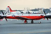 166057 @ PNS - Raytheon T-6B Texan II, c/n: 0000
