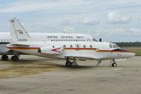 160056 @ NPA - North American Rockwell CT-39G Sabreliner, c/n: 306-106 in outside storage at Pensacola Naval Museum