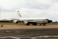 64-14844 @ MHZ - RC-135V Cobra Ball of the 55th Wing at Offutt AFB on the flight-line at the 1995 RAF Mildenhall Air Fete. - by Peter Nicholson