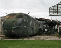 67-30044 - Remains of old heli on display at the Russell Military Museum - by Daniel L. Berek