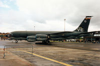 61-0313 @ MHZ - KC-135R Stratotanker named 100 Proof of 100th Air Refuelling Wing based at Mildenhall on display at the 1995 RAF Mildenhall Air Fete and wearing VE day 50th anniversary markings. - by Peter Nicholson
