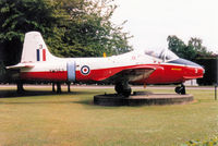XW353 @ EGYD - Jet Provost T.5A as gate guardian at the RAF College Cranwell in May 1995. - by Peter Nicholson