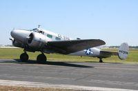 N7381C @ LAL - Beech C-45 - by Florida Metal